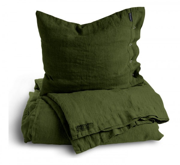 LovelyLinen Bettwäsche in jeep green. Abmessungen 155x220.jpg