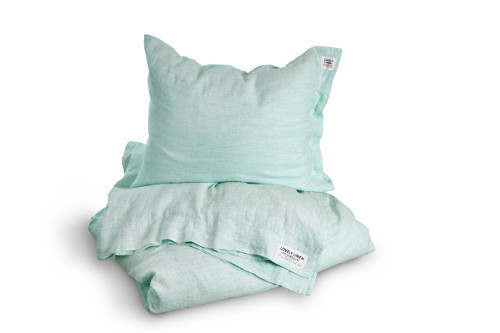 Bettwaesche Chambray Ocean von Lovely Linen