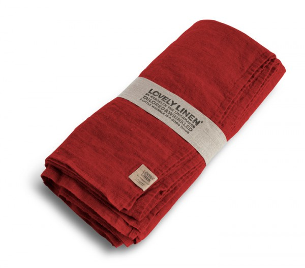 Leinentischdecke LOVELY (real red) Lovely Linen