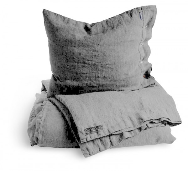 Bettwäsche im Set von Lovely Linen in Light-Grey