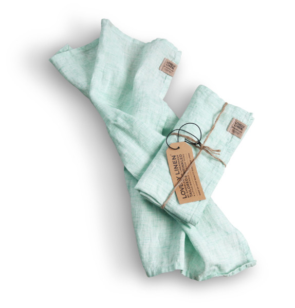 Stoffservietten Chambray Ocean von Lovely Linen