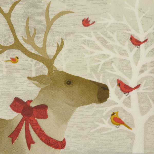 Papierservietten Deer Friends