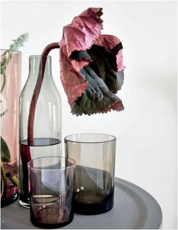 Glaskaraffe/ Pitcher Smoke von By Nord als Vase