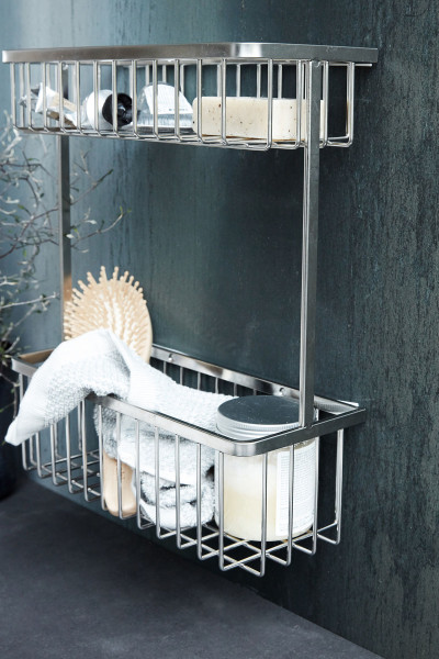 Metallregal Bath Double von House Doctor in silber