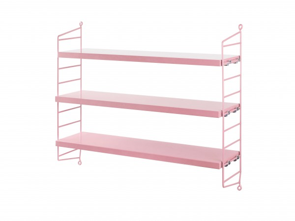 String® Pocket Regal rosa/rosa an der Wand