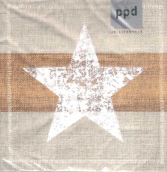 Papierservietten Star, gold