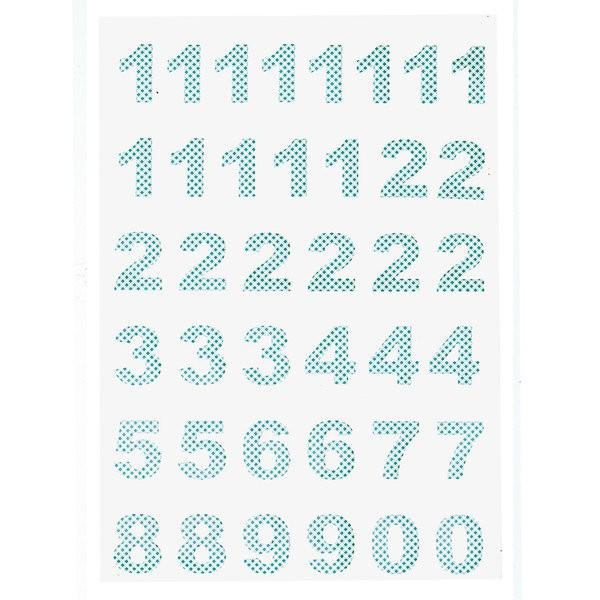 GreenGate Adventskalender Aufkleber Ida Pale Blue
