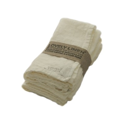 Stoffserviette Leinen Lovely Linen off-white
